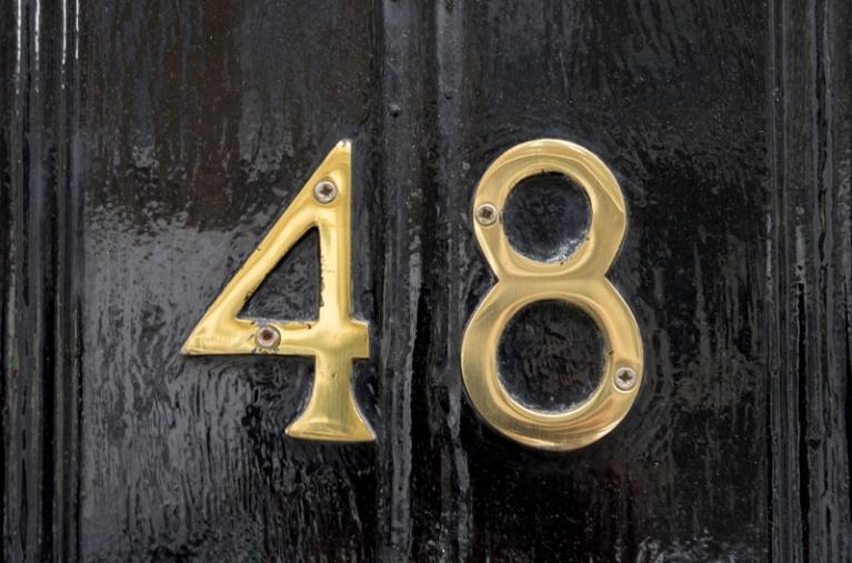 48 Wimpole - front door